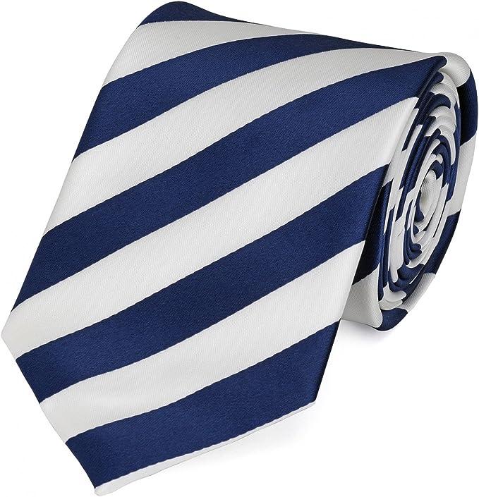 Fabio Farini Corbata azul blanco: Amazon.es: Ropa y accesorios