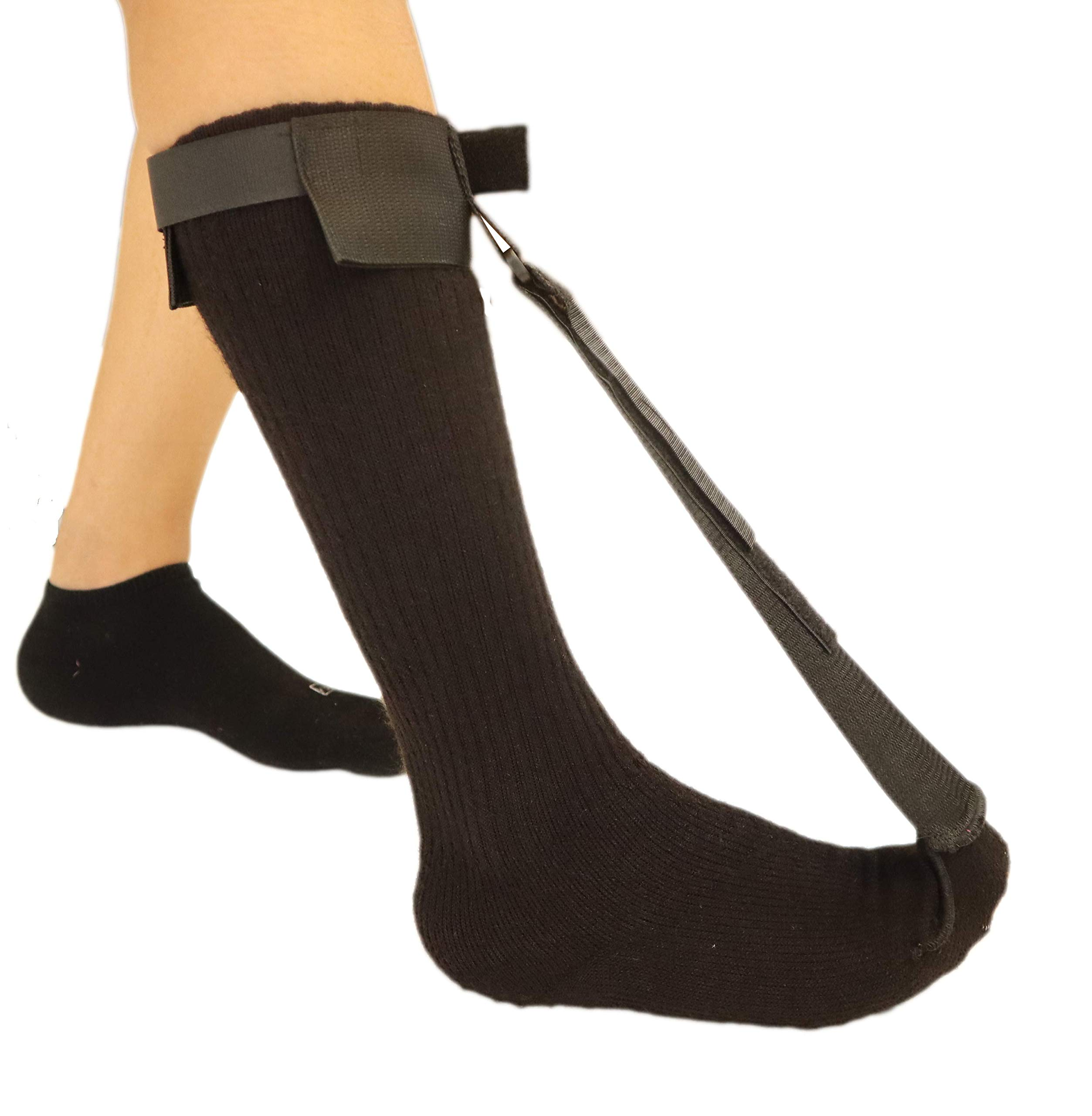 Plantar Fasciitis Stretch Night Sock - for Pain Relief from Plantar Fasciitis and Achilles Tendonitis - Black - L by MARS WELLNESS