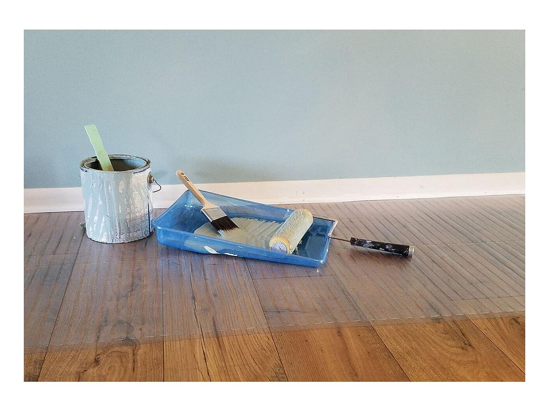 Resilia Clear Vinyl Plastic Floor Runner Protector For