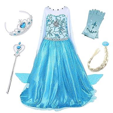 Fstorywinyee Fstorywinyee Kinder Kostüm Karneval Eiskönigin Elsa