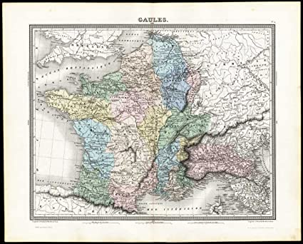 Map Of France And Luxembourg.Amazon Com Antique Map Gaul France Belgium Netherlands Luxembourg