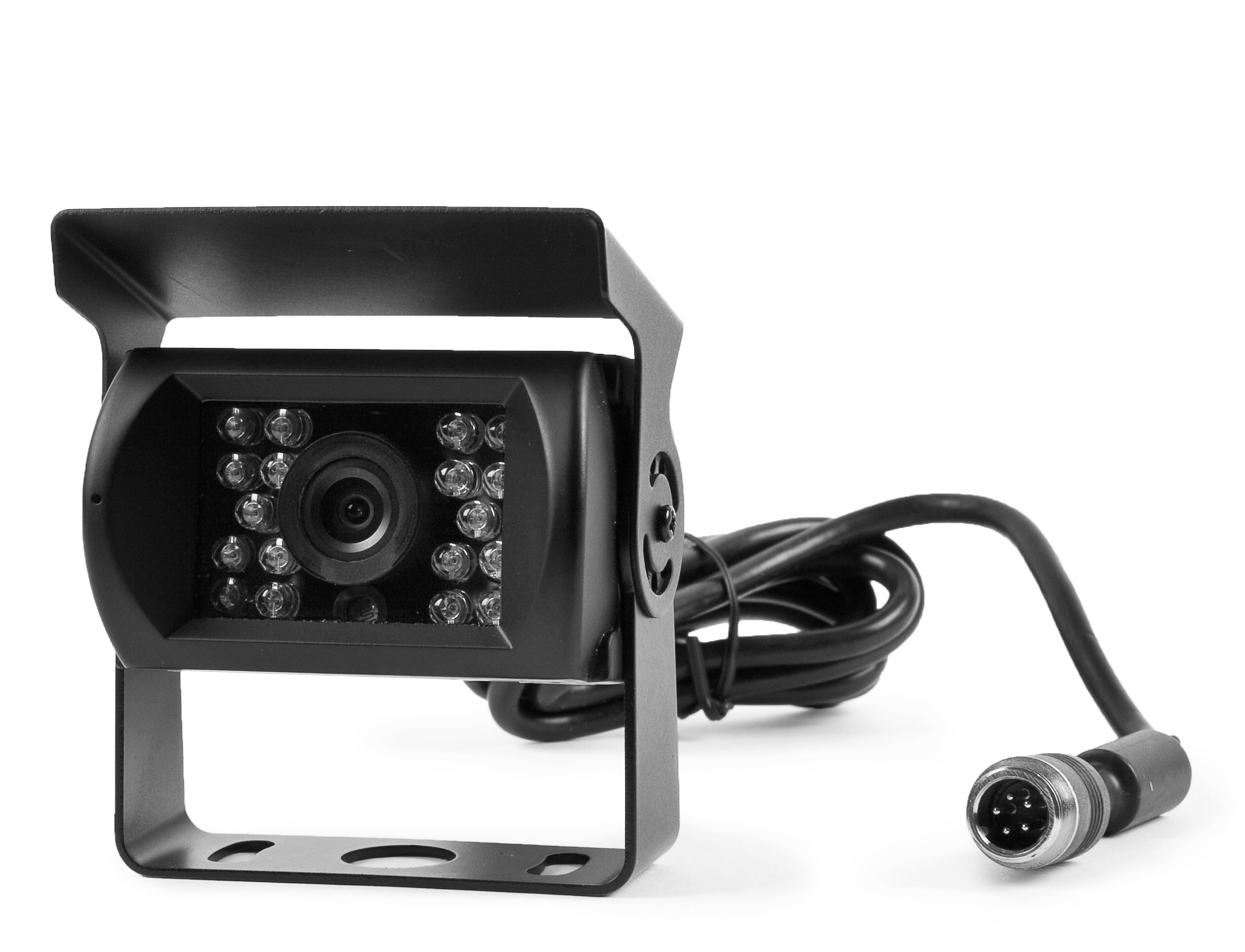 Rear View 130° CCD Back Up Camera with 18 Built in Infra-reds for Rv's, Trucks, Trailers - Built-in Microphone to Hear Surroundings