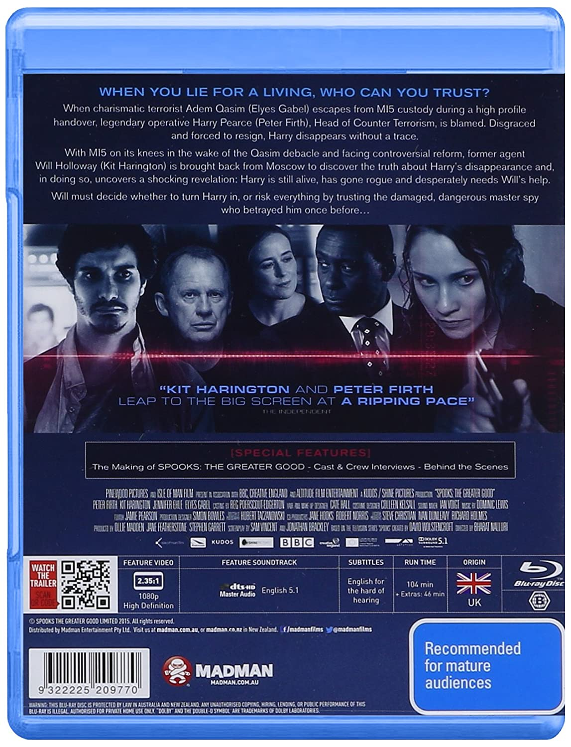 Amazon com: Spooks: The Greater Good (Blu-Ray): Elyes Gabel