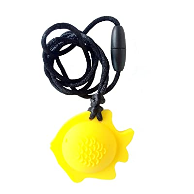 chubuddy Chewable Fish Pendant Chewie, Non-Toxic Material-Lemon: Beauty
