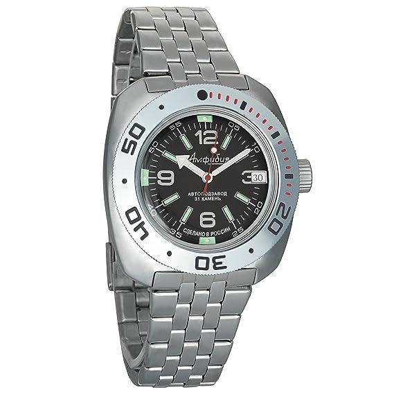 Vostok Amphibia Mens Russian military 200WR Mechanical Self-winding AUTO wrist watch #710640: Amazon.es: Relojes