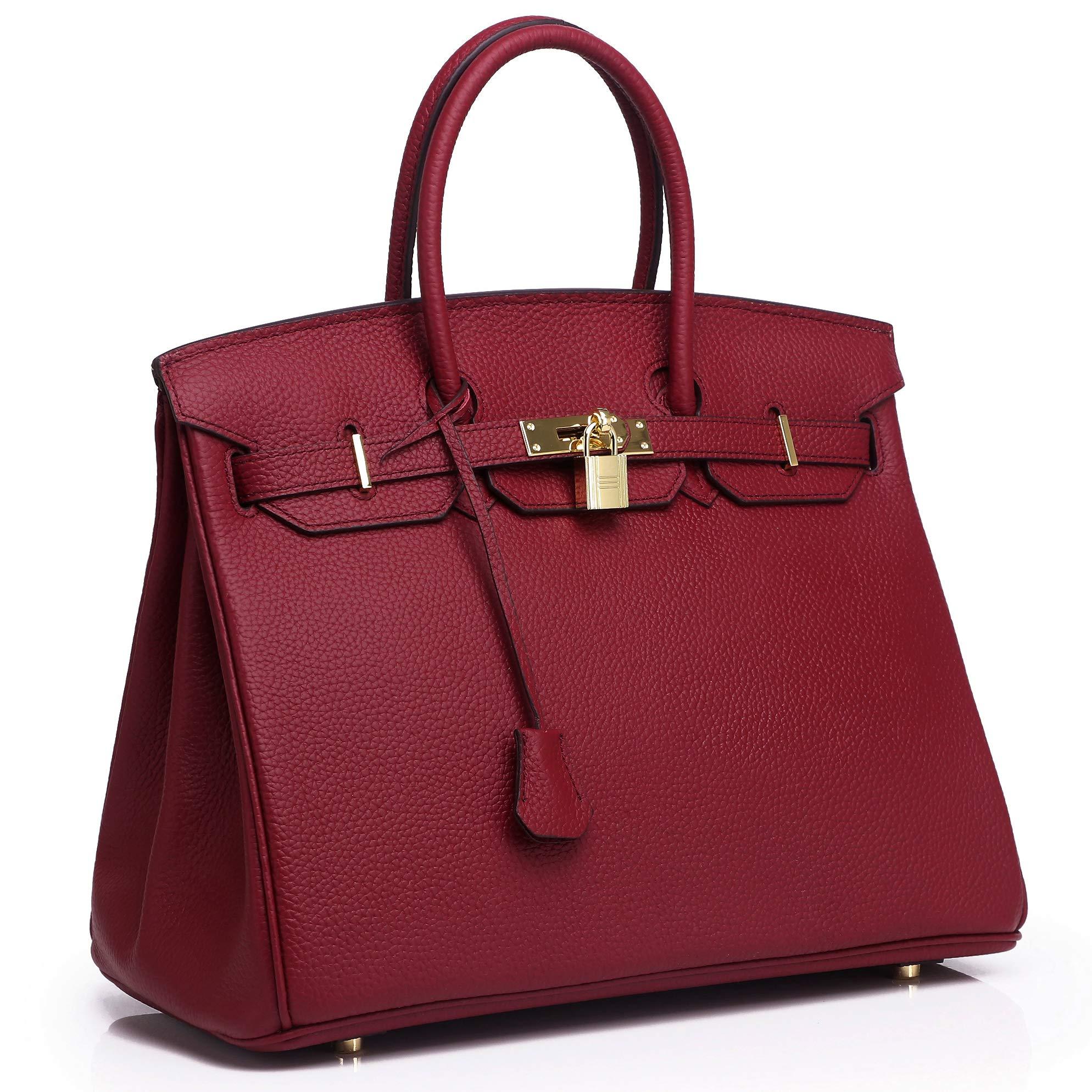 Kueh Padlock handbags for Womens Designer Top Bag With Gold Hardware
