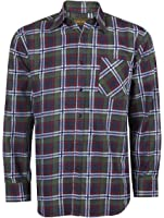 Mens Lumberjack Flannel Brush Cotton Work Check Shirt Printed (not woven) Country Wear