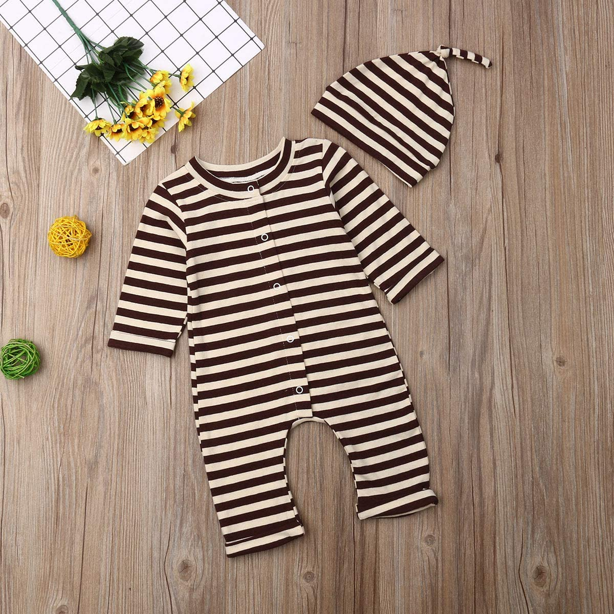 Baby Boy Jumpsuit Knitted Button Solid Long Sleeve Infant Boys Romper One Piece Bodysuit Newborn Girls Clothes Outfits