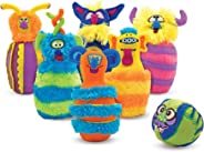 """Melissa & Doug Monster Bowling Game (Plush 6-Pin Bowling Game with Carrying Case, Weighted Bottoms, 7 Pieces, 9"""" H x 8.5"""" W x"""