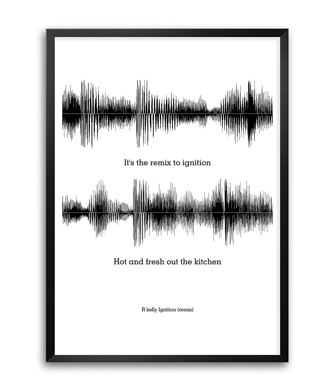 Amazon.com: Lab No. 4 R Kelly Ignition (Remix) Lyrics Quotes Framed ...