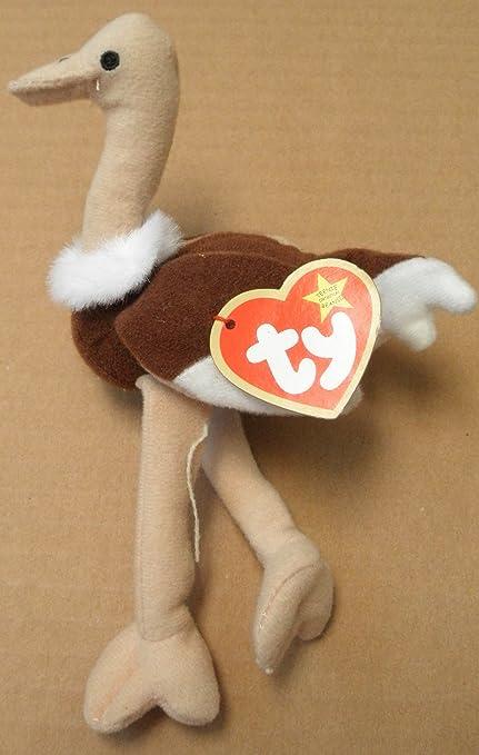 Amazon.com  TY Teenie Beanie Babies Stretchy the Ostrich Plush Toy Stuffed  Animal  Toys   Games ecc549ad71c2
