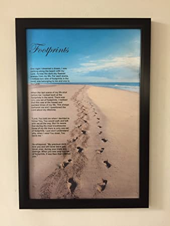 Amazoncom Hvs Art Studio Footprints In The Sand Framed Quotes