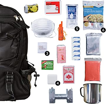 Amazon.com: Wise Food Kit de mochila de supervivencia de ...