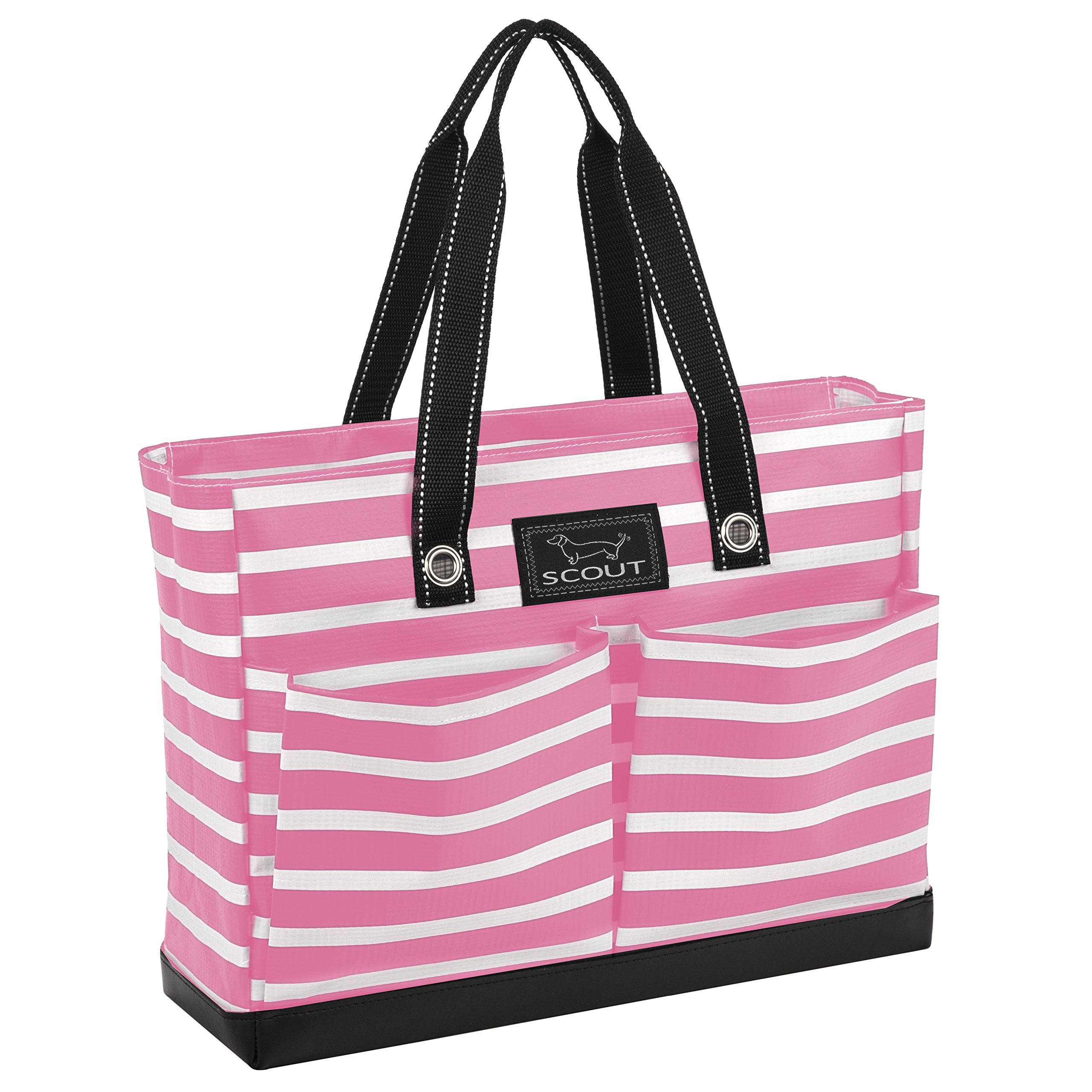 SCOUT Uptown Girl Medium Multi-Pocket Tote Bag, Water Resistant, Zips Closed, Panama Pink