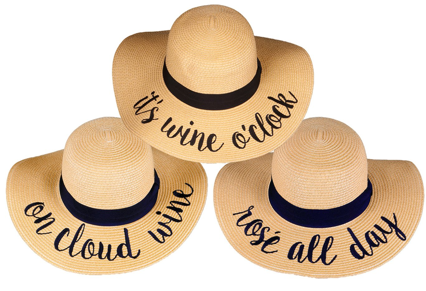 H-2017-3-IWO.OCW.RAD Sun Hat Bundle Wine Trio - Rose All Day