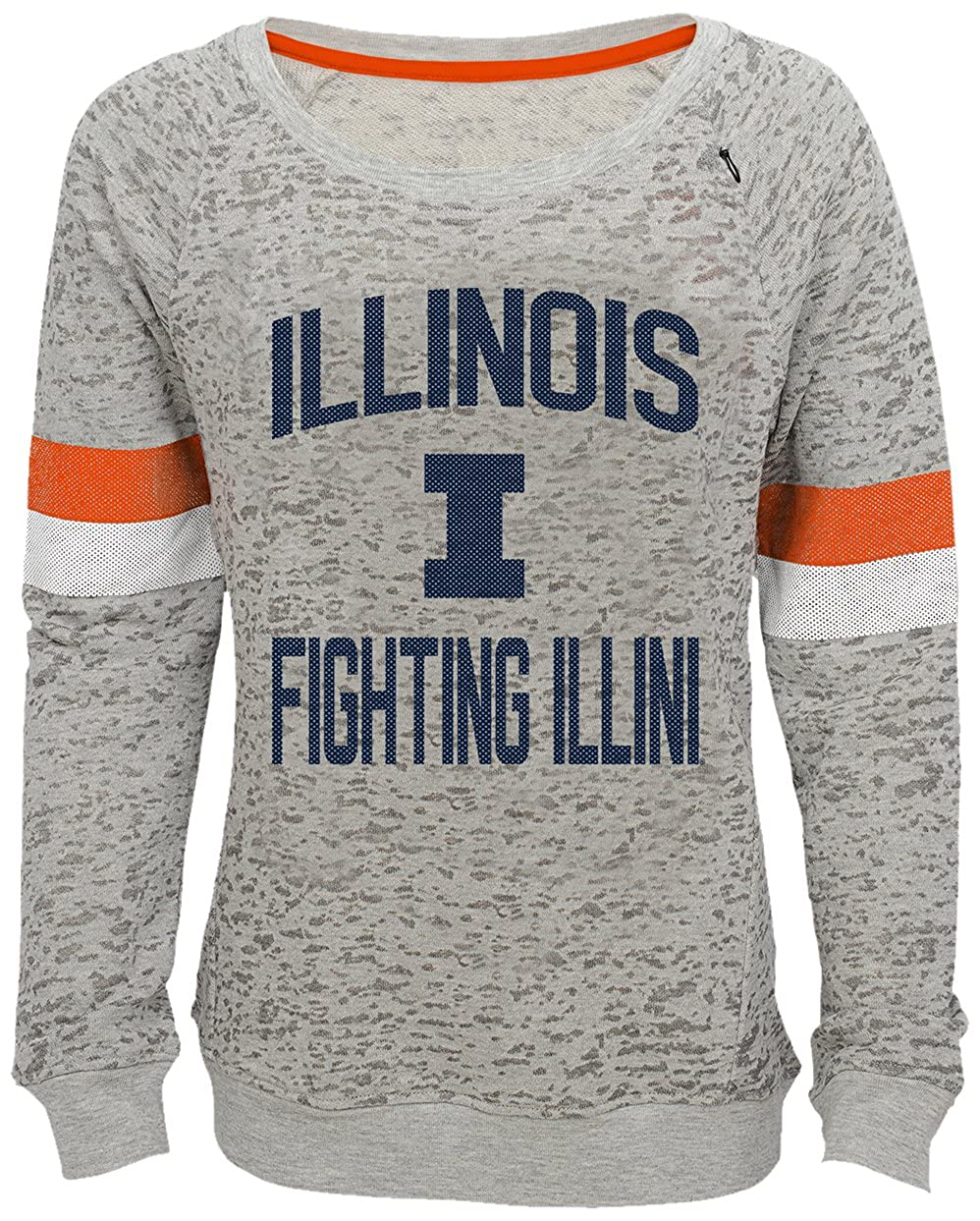 Youth Small NCAA by Outerstuff NCAA Illinois Illini Youth Girls My City Boat Neck Pullover 7-8 Heather Grey