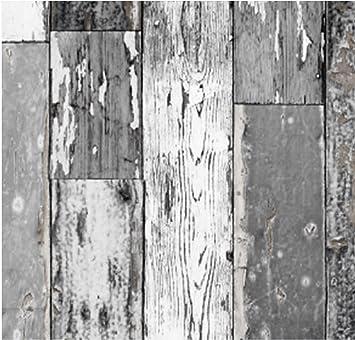 Großartig Klebefolie Scrapwood dunkel grau 90x200 cm Möbelfolie  PB83