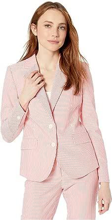 ANNE KLEIN Women's Seersucker Jacket