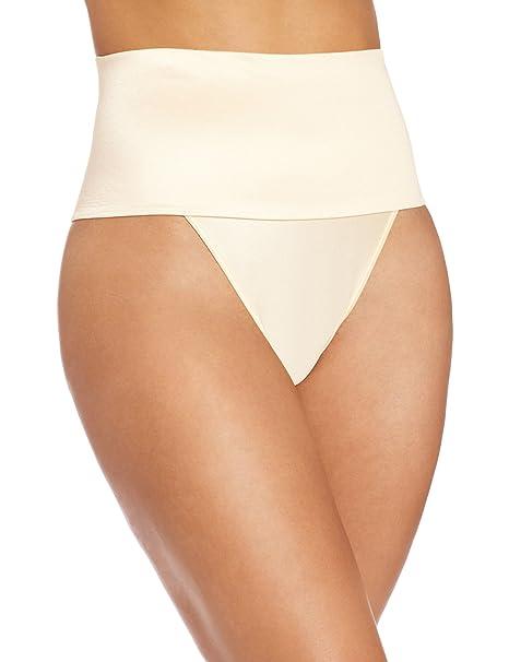 d8252ada5644f Rago Shapewear Women s Wide Band Thong Panty  Amazon.ca  Clothing ...