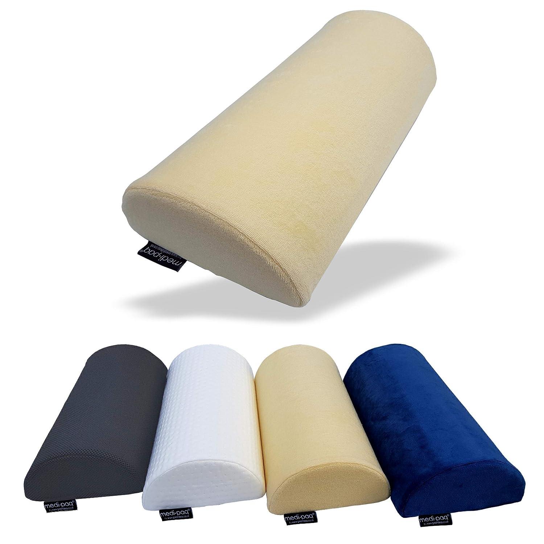 Beine Knie weich f/ür Nacken aber fest D-Form F/ü/ße praktisch jede Position. Medipaq Das Original Halbmond-Kissen aus Memory-Schaum unteren R/ücken