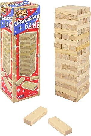 KP Juego Torre de Madera 54 Piezas - Juego de Habilidad: Amazon.es: Juguetes y juegos