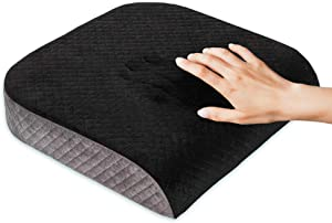 Kӧlbs Large Seat Cushion   Stylish Plush Velvet Cover   Large Memory Foam Seat Cushion for Office Chair, Car or Wheelchair   Office Chair Cushion Back Pain Coccyx Pain Relief   Carry Handle