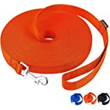 AmaGood Dog/Puppy Obedience Recall Training Agility Lead-15 ft 20 ft 30 ft 50 ft Long Leash-for Dog Training,Recall,Play,Safe