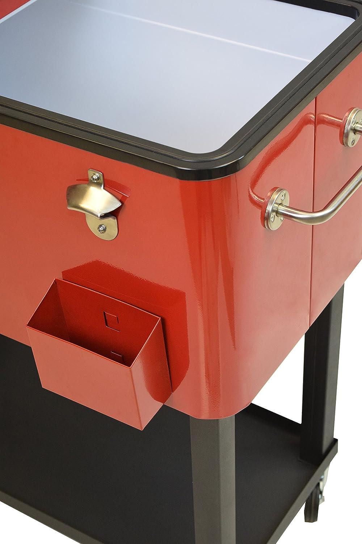 amazon com oakland living steel patio cooler with cart 80 quart