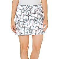 "PGA TOUR Women's 16"" Sunflux Printed Knit Skort with Contour Waist"