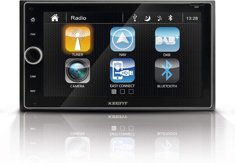 Xzent X 422 Infotainer 2 Din Mediencenter Multimediasystem Mit 16 5 Cm 6 5 Touchscreen Autoradio Mit Dab Bluetooth Usb Zum Festeinbau Navi Für Autos Oder Reisemobile Erweiterbar Navigation
