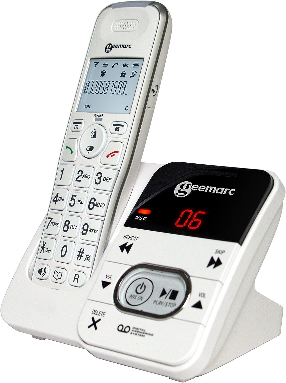 Geemarc AMPLIDECT 295 amplificada teléfono inalámbrico con contestador automático: Amazon.es: Electrónica