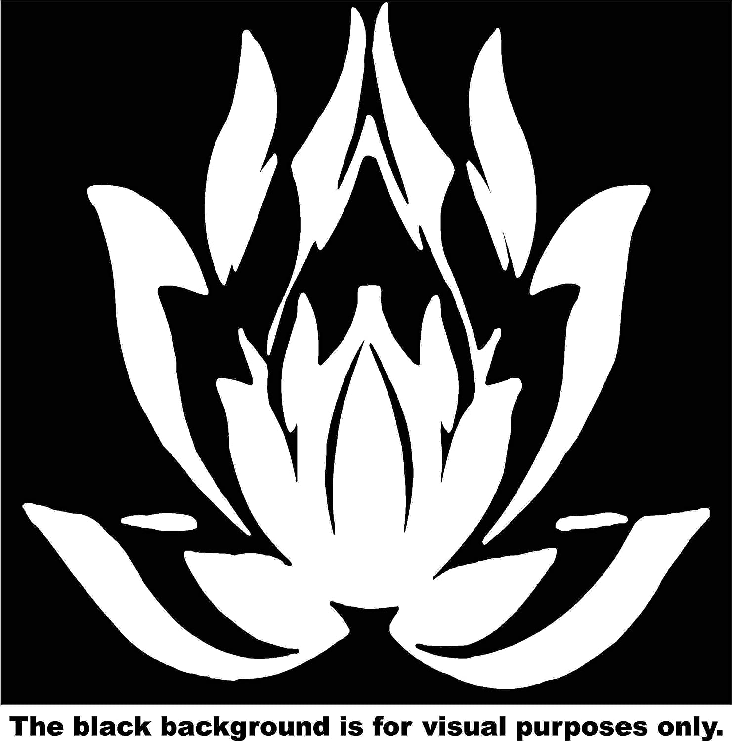 Nature Flower Lotus Car Window Tumblers Wall Decal Sticker Vinyl Laptops Cellphones Phones Tablets Ipads Helmets Motorcycles Computer Towers V and T Gifts