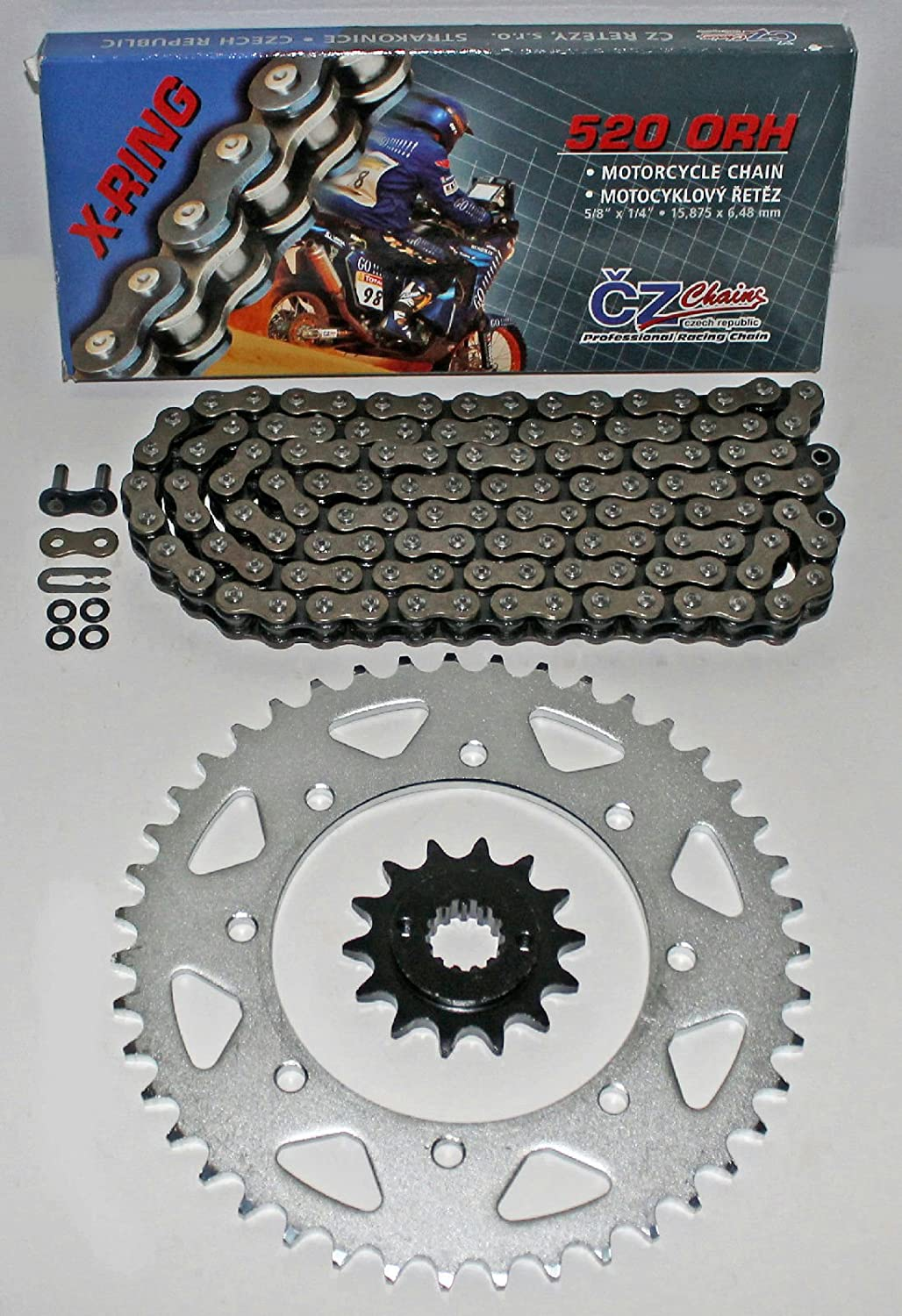 Vehicle Parts & Accessories CR500 CHAIN AND RENTHAL SPROCKET KIT DID X ring RED