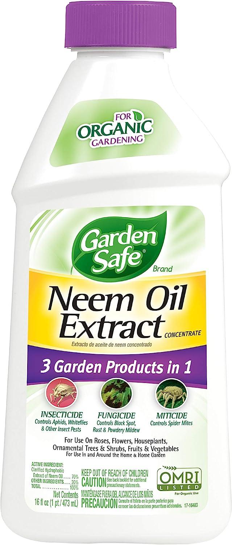 Garden Safe HG-93179 Neem Oil Extract Concentrate, 16-Fluid Ounces