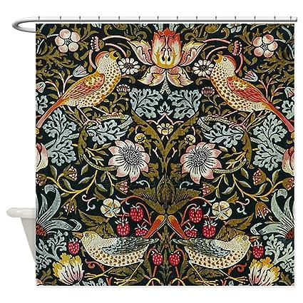 CafePress William Morris Strawberry Thief Decorative Fabric Shower Curtain 69quot