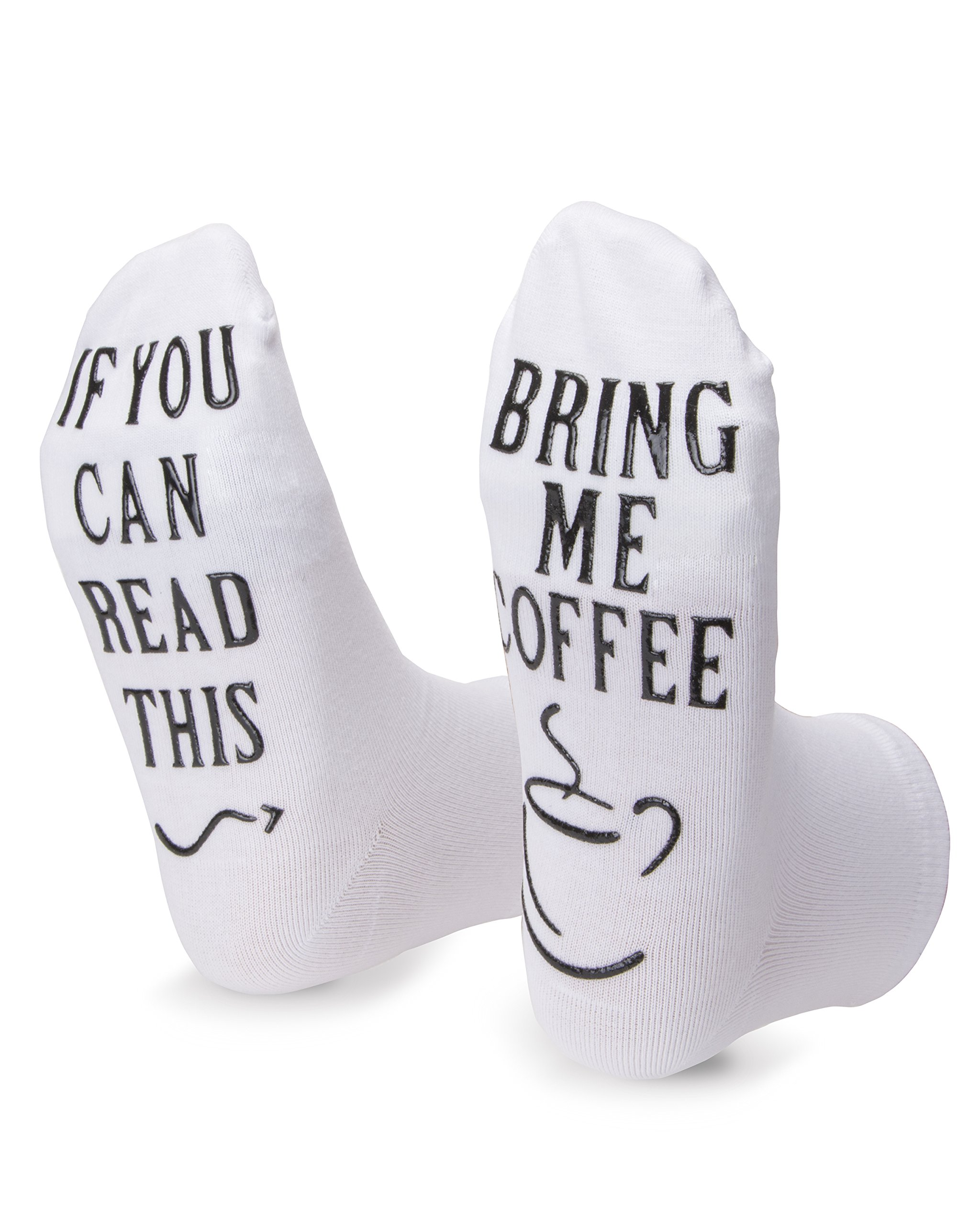 Bring Me Coffee Socks Funny Saying Novelty Birthday Present For Him Or Her Gift Idea For Husband, Wife, Sister, Best Friend, Coffee Lover