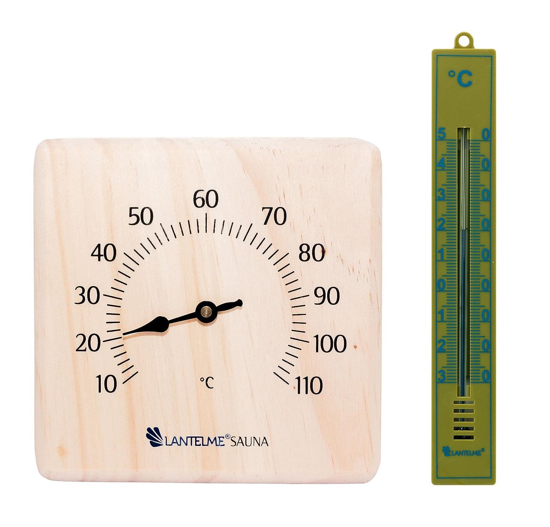 Lantelme 6350 Sauna Accessory Set And Bath Thermometer –  Sauna Accessory Set And Analogue Thermometer and Bathroom Thermometer