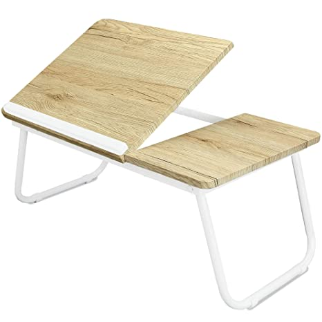 Excellent White Folding Laptop Lap Desk Wooden Work Table And Stand For Couch Bed And Sofa Computer Use Folding Legs Adjustable Tilt Use As Reading And Home Interior And Landscaping Ologienasavecom