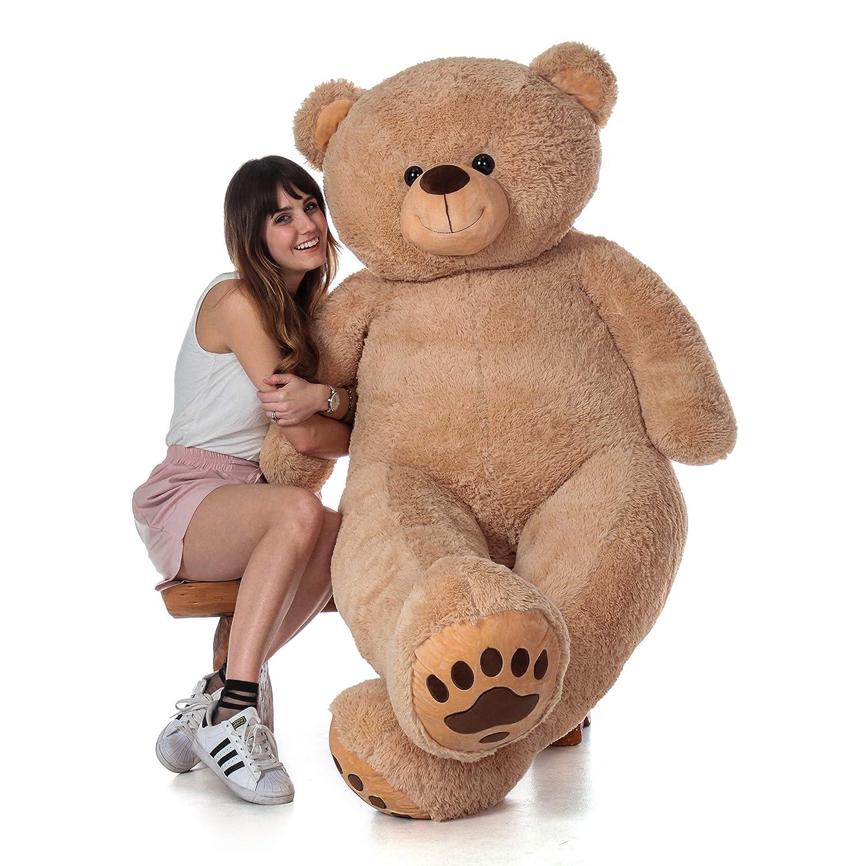 785fbd5b36e0 Amazon.com: Giant Teddy Brand - Premium Quality Giant Stuffed Teddy Bear  (Amber Tan, 6 Foot): Toys & Games