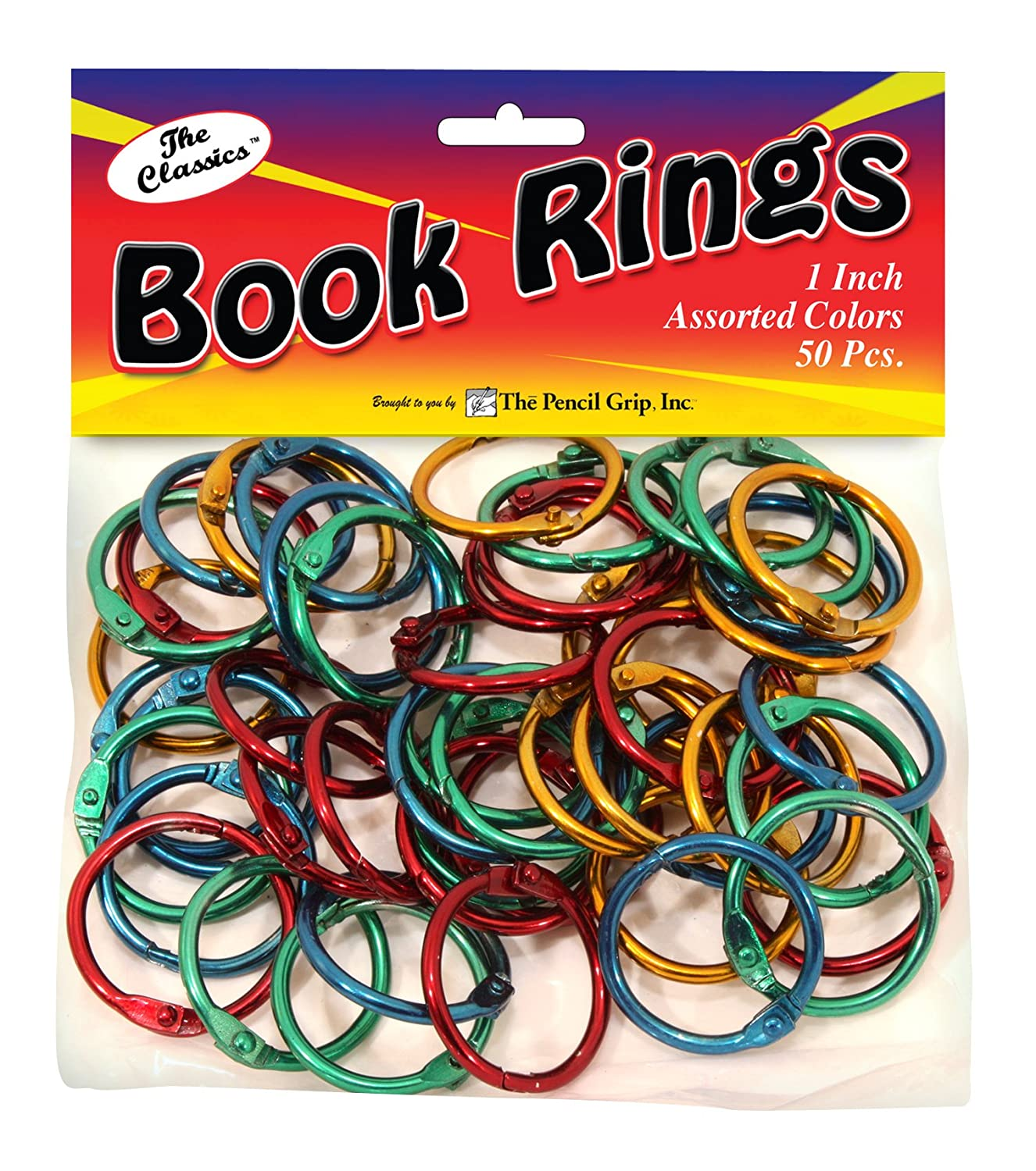 Amazon.com : The Classics 1-Inch Diameter 50 Count Book Rings in ...