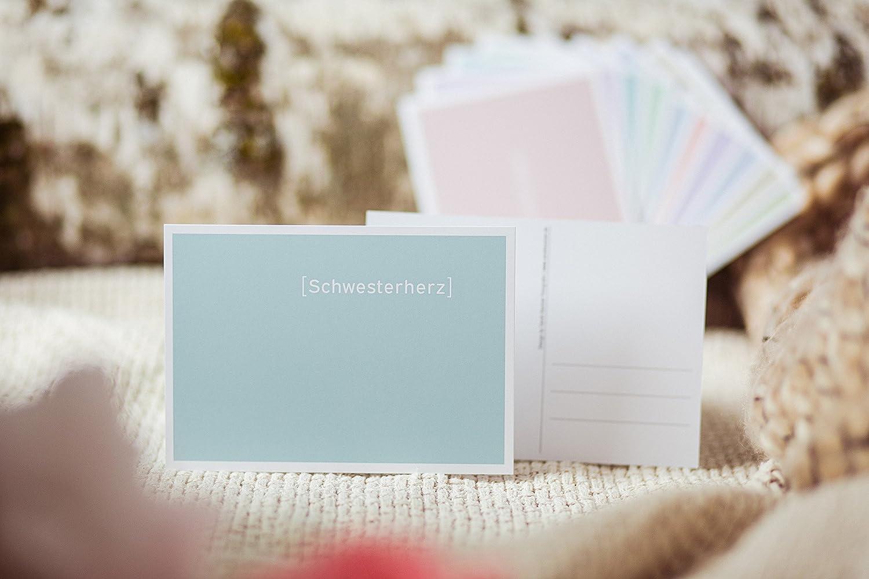 Schwesterherz Liebevolle Schlichte Postkarte Grußkarte