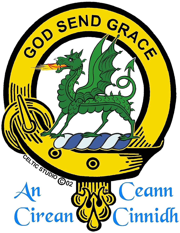 Amazon Crichton Scottish Clan Badge Decanter Handmade