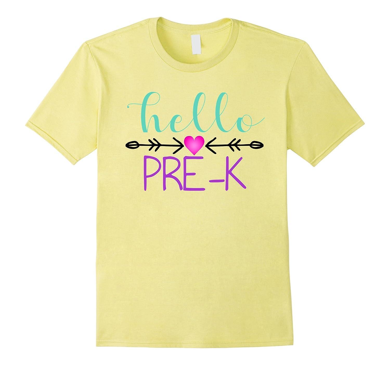 Hello pre k t shirt back to school shirt art artvinatee for Back to school shirts