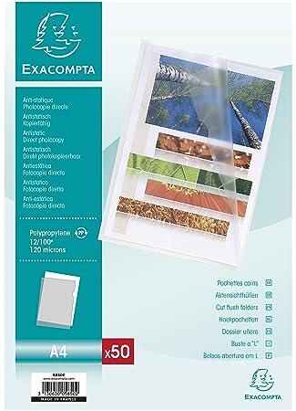 Exacompta 5850E - Bolsa de 50 dossiers, A4, transparente
