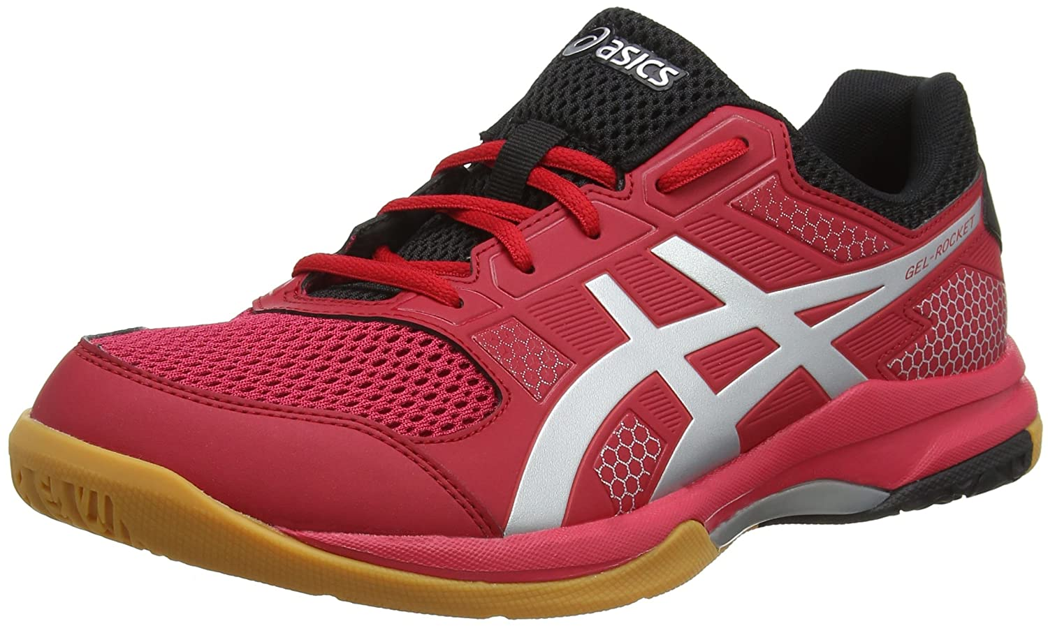 Asics Men's Gel-Rocket 8 Multisport Indoor Shoes, Red (Silver/ Samba),9 UK/44 EU B706Y