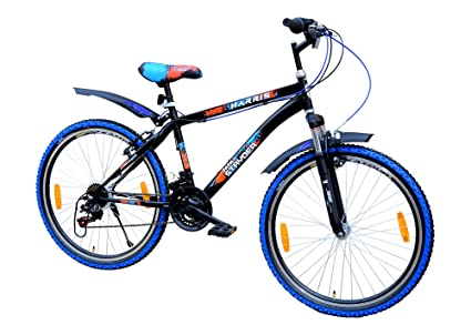 0257080fff2 Buy Tata Stryder Steel Harris FS 18 Speed MTB Bicycle for 12 and Above  Years, Matt Black Online at Low Prices in India - Amazon.in
