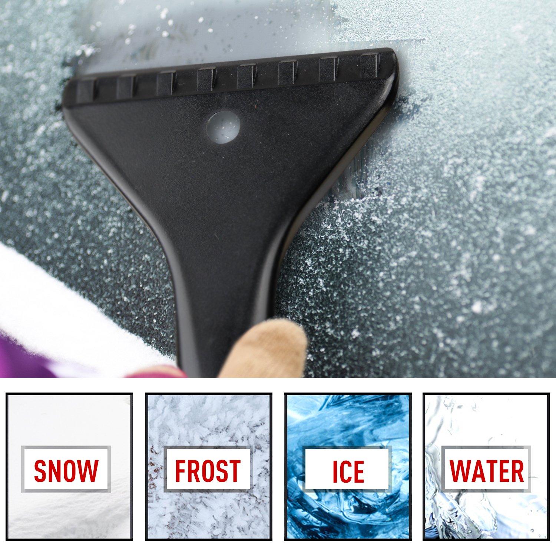 Eisschaber AODOOR Versenkbare Schnee Pinsel und Schneebesen Eiskratzer Automatische Eisschaber f/ür Autos Truck SUV Windschutzscheibe