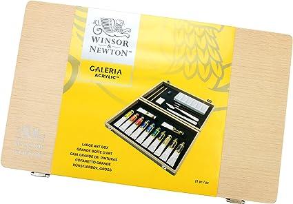 Winsor and Newton Galeria - Caja de pinturas acrílicas (tamaño ...