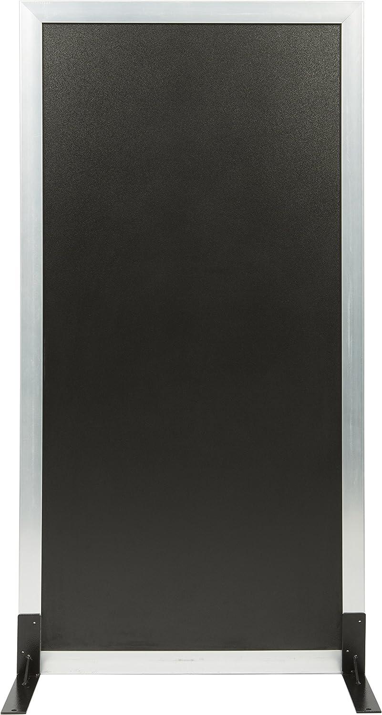 Securit Lavagna Multiboard con cornice color Bianco 2 gommini protettivi e 2 ganci compresi 115 x 60 cm