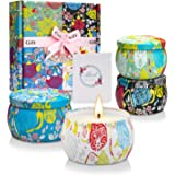 Scented Candles Birthday Gifts for Women, Candle Set 4.4oz 4 Pack, Soy Candles for Home Scented Small Candles Aromatherapy Gi